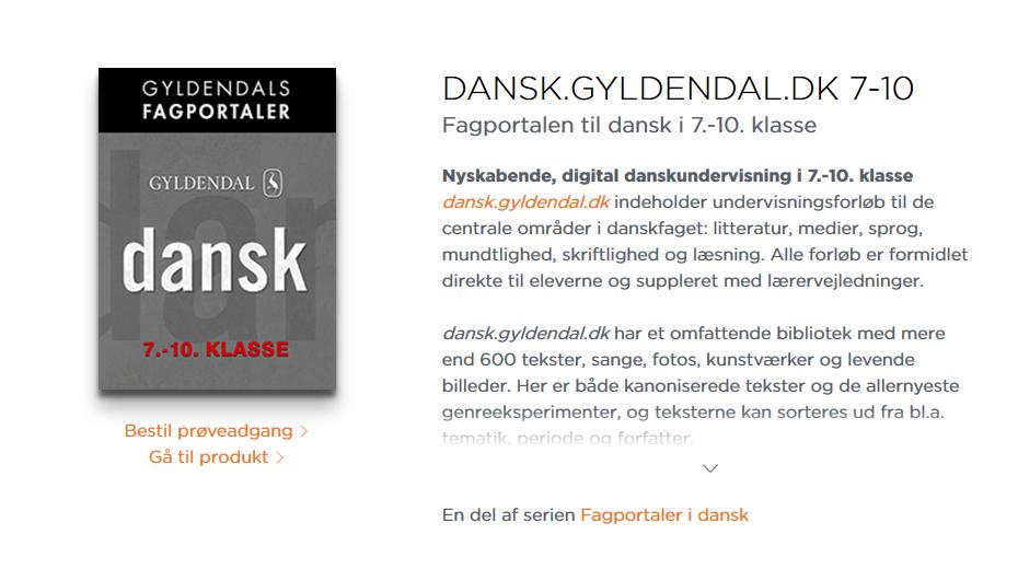 dansk gyldendal bibliotek